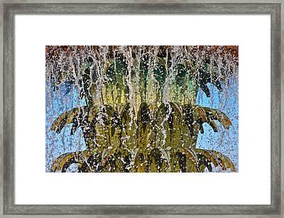 Water Fountain Light Charleston Framed Print by Lori Kesten
