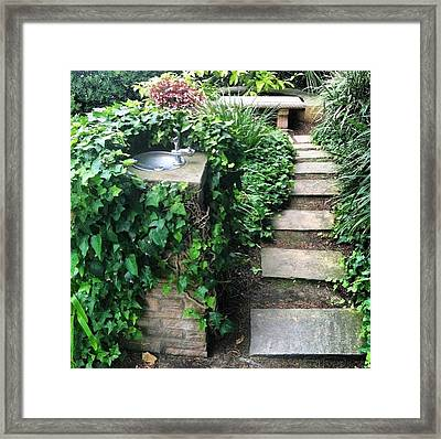 Water Fountain Framed Print by Megan Wadding