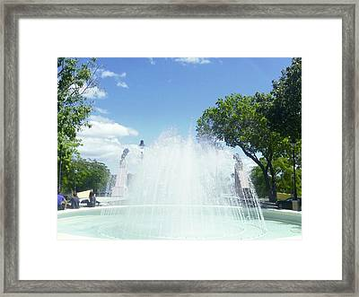 Water Fountain Ponce, Puerto Rico Framed Print
