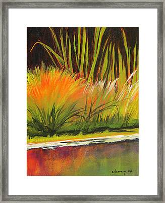 Water Garden Landscape 5 Framed Print by Melody Cleary