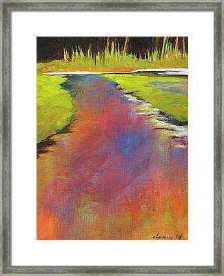 Water Garden Landscape 6 Framed Print by Melody Cleary