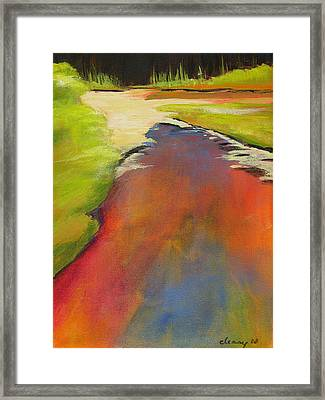 Water Garden Landscape 7 Framed Print by Melody Cleary