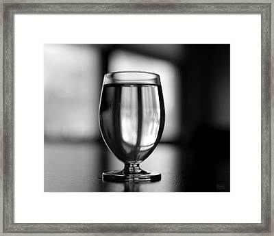 Framed Print featuring the photograph Water Glass I Bw by David Gordon