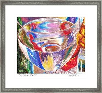 Water Glass Framed Print