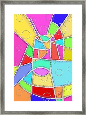 Water Glass Of Light And Color Framed Print