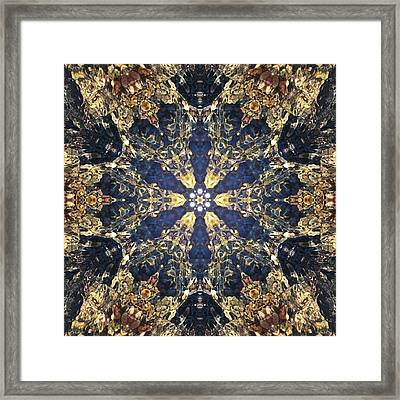 Framed Print featuring the mixed media Water Glimmer 3 by Derek Gedney
