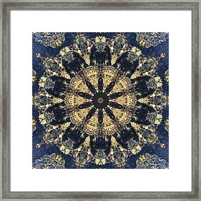 Framed Print featuring the mixed media Water Glimmer 4 by Derek Gedney