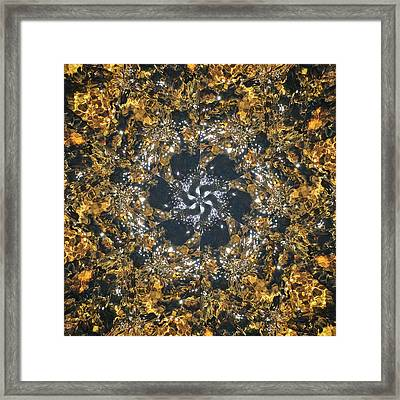 Framed Print featuring the mixed media Water Glimmer 6 by Derek Gedney