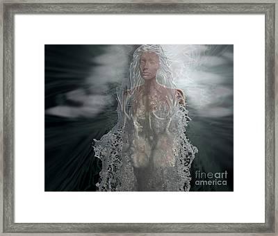 Water Goddess Framed Print by Cheri Doyle