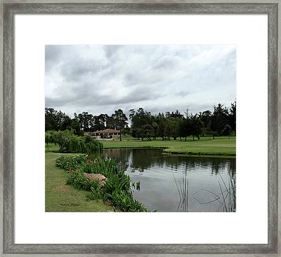 Water Hazard At Number Five Santa Maria Country Club 2 Framed Print