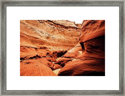 Framed Print featuring the photograph Water Holes Canyon  by Norman Hall