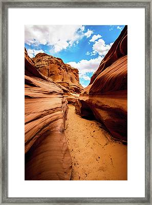 Framed Print featuring the photograph Water Holes Canyon Trail by Norman Hall