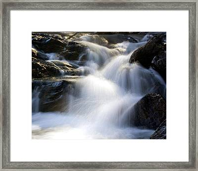 Framed Print featuring the photograph Water In Motion by Alan Raasch