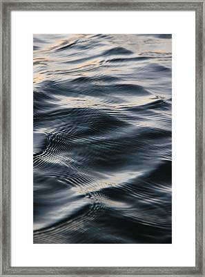 Water In Motion Framed Print