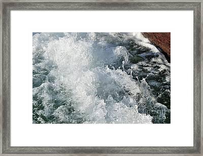 Water In Turmoil Framed Print by Kaye Menner