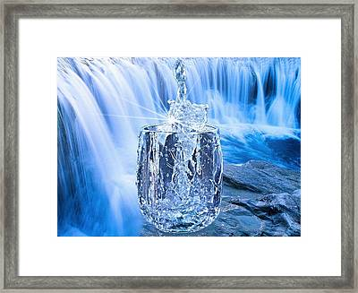 Water Is Life Framed Print by Manfred Lutzius