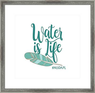 Framed Print featuring the digital art Water Is Life Nodapl by Heidi Hermes