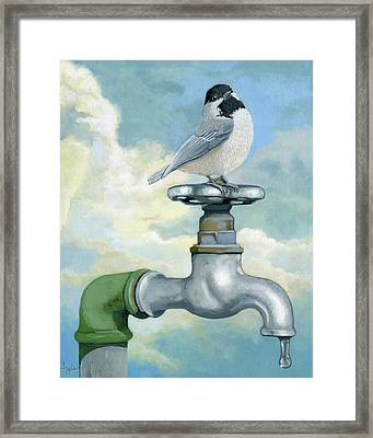 Water Is Life - Realistic Painting Framed Print