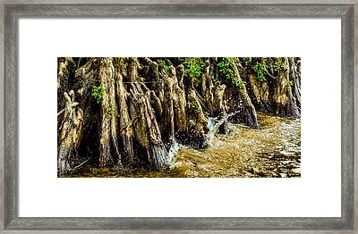 Water Lapping At The Knees Framed Print by Geoff Mckay