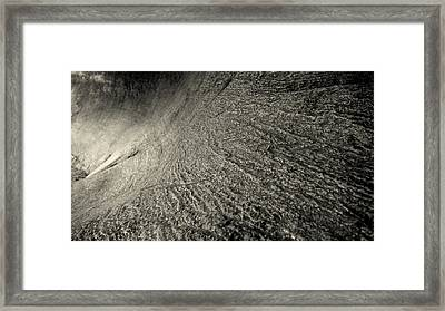 Framed Print featuring the photograph Water Leaves Its Mark by Karen Musick