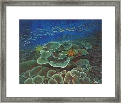 Water Life Floral Framed Print