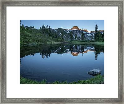 Water Like Mirror Framed Print by Jon Glaser