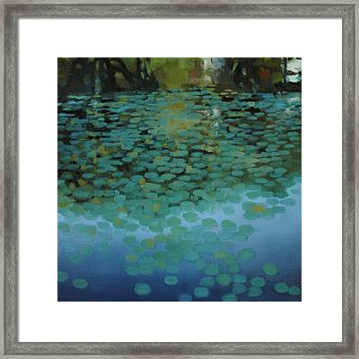 Framed Print featuring the painting Water Lilies 3 by Cap Pannell
