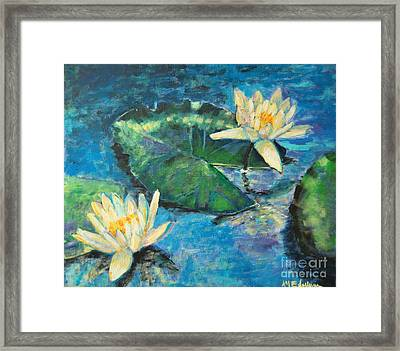 Framed Print featuring the painting Water Lilies by Ana Maria Edulescu