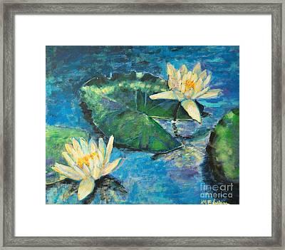 Water Lilies Framed Print by Ana Maria Edulescu