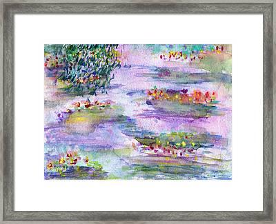 Water Lilies Framed Print by Janpen Sherwood