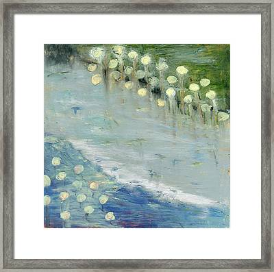 Framed Print featuring the painting Water Lilies by Michal Mitak Mahgerefteh