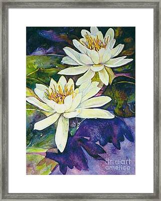 Water Lilies Framed Print by Norma Boeckler