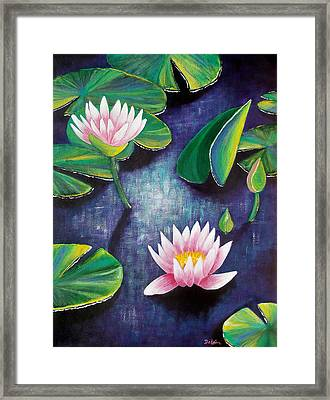 Framed Print featuring the painting Water Lilies by Susan DeLain