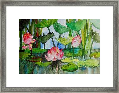 Water Lillies Two Framed Print