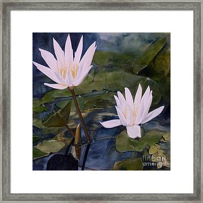 Framed Print featuring the painting Water Lily At Longwood Gardens by Laurie Rohner