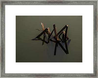 Framed Print featuring the photograph Water Lines by Odd Jeppesen