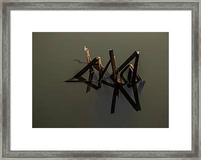Water Lines Framed Print by Odd Jeppesen