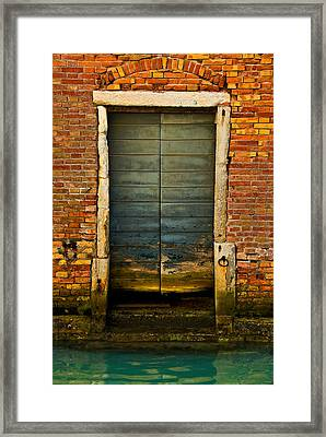 Water-logged Door Framed Print