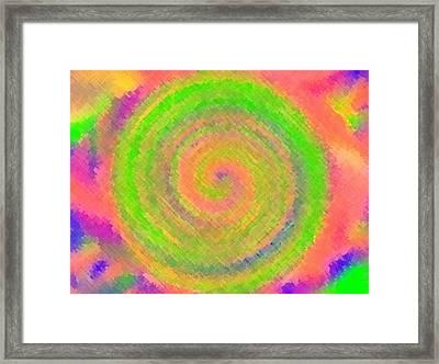 Framed Print featuring the digital art Water Melon Whirls by Catherine Lott