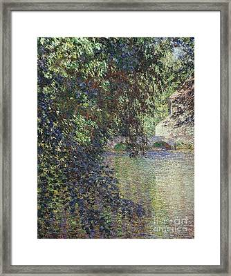 Water Mill At Limetz Framed Print