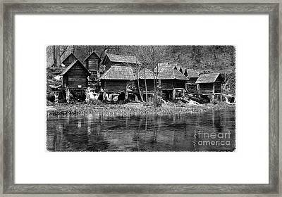 Water Mills On The River Pliva Framed Print by Zoran Kepic