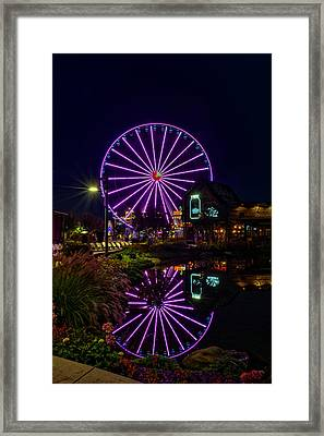 Water Moonshine And A Big Wheel Framed Print
