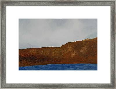 Water Mountain And Sky   Framed Print by Harris Gulko