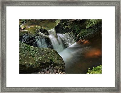 Water Movement-tillman Ravine Framed Print
