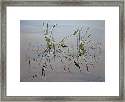 Framed Print featuring the painting Water Music by Joel Deutsch