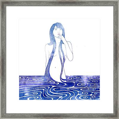 Water Nymph C Framed Print by Stevyn Llewellyn