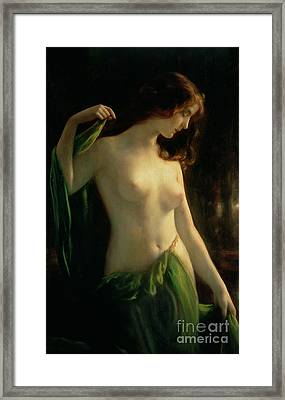 Water Nymph Framed Print by Otto Theodor Gustav Lingner