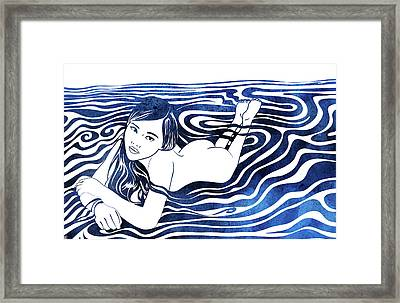Water Nymph V Framed Print