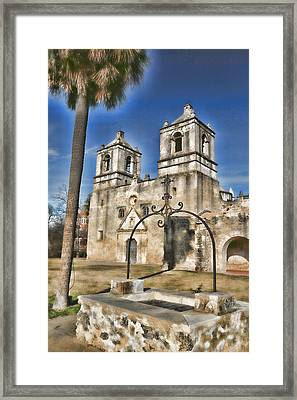 Water Of Life - Mission Concepcion Framed Print by Stephen Stookey