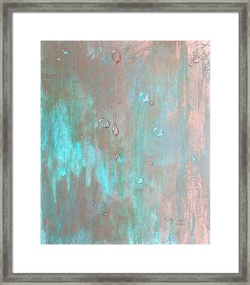 Water On Copper Framed Print